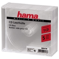 HAMA CD Box 5 units transparent jewel diskdzinis, optiskā iekārta