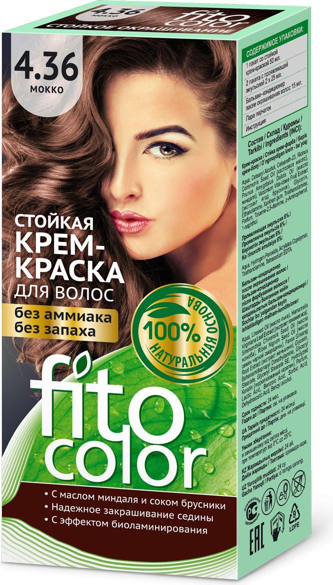Fitocosmetics Fitocolor Farba-krem do wlosow nr 4.36 mokka  1op. 3022372