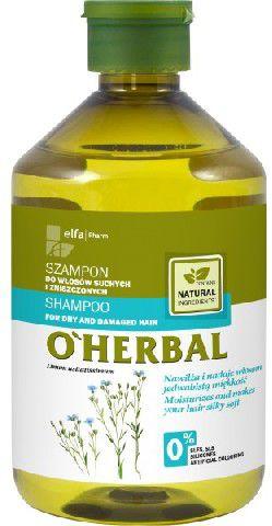Elfa Pharm O'Herbal Szampon for hair suchych i zniszczonych z lnem 500ml - 810418 Matu šampūns
