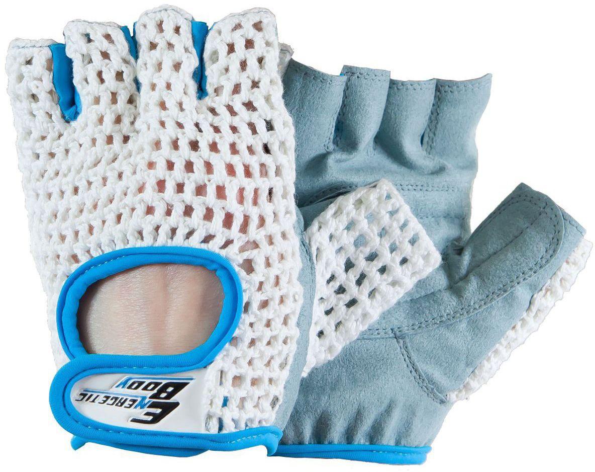 Energetic Body Rekawice treningowe Fitness Lady bialo-niebieskie r. L ENERGETICBODY171023051 Trenažieri