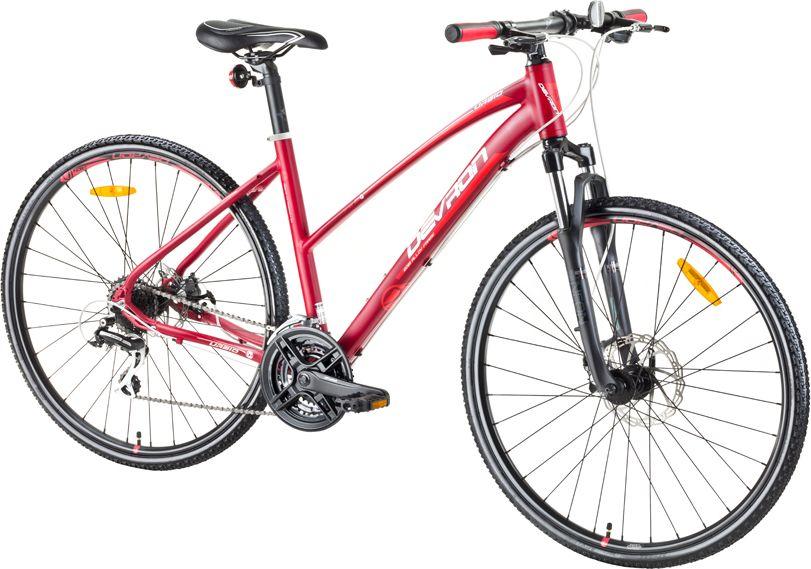Devron Damski crossowy rower Urbio LK2.8 2017 czerwony 217KL284822 kalnu velosipēds MTB