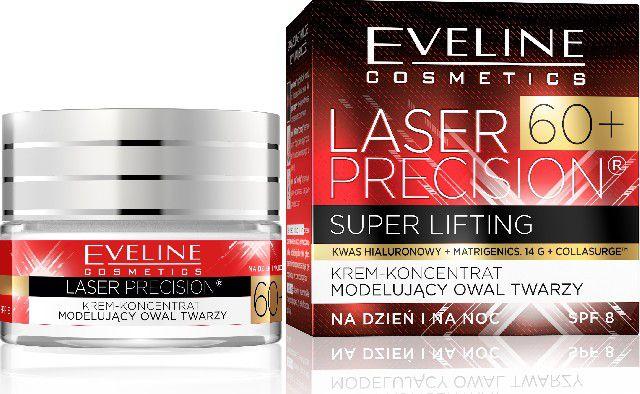 Eveline Laser Precision 60+ Day and night cream concentrate modeling the face oval 50ml kosmētika ķermenim