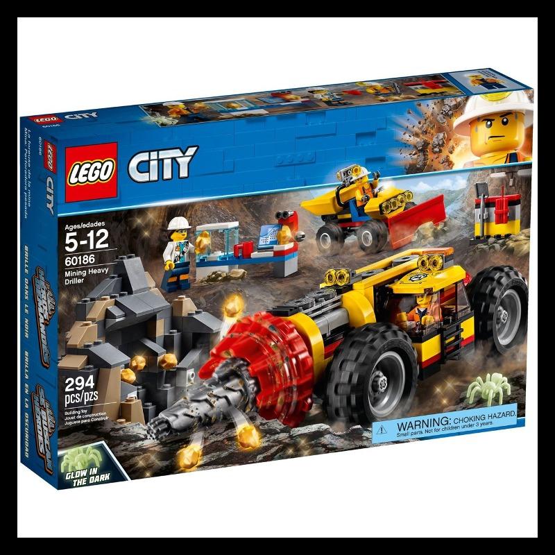 LEGO City 60186 Mining Heavy Driller LEGO konstruktors
