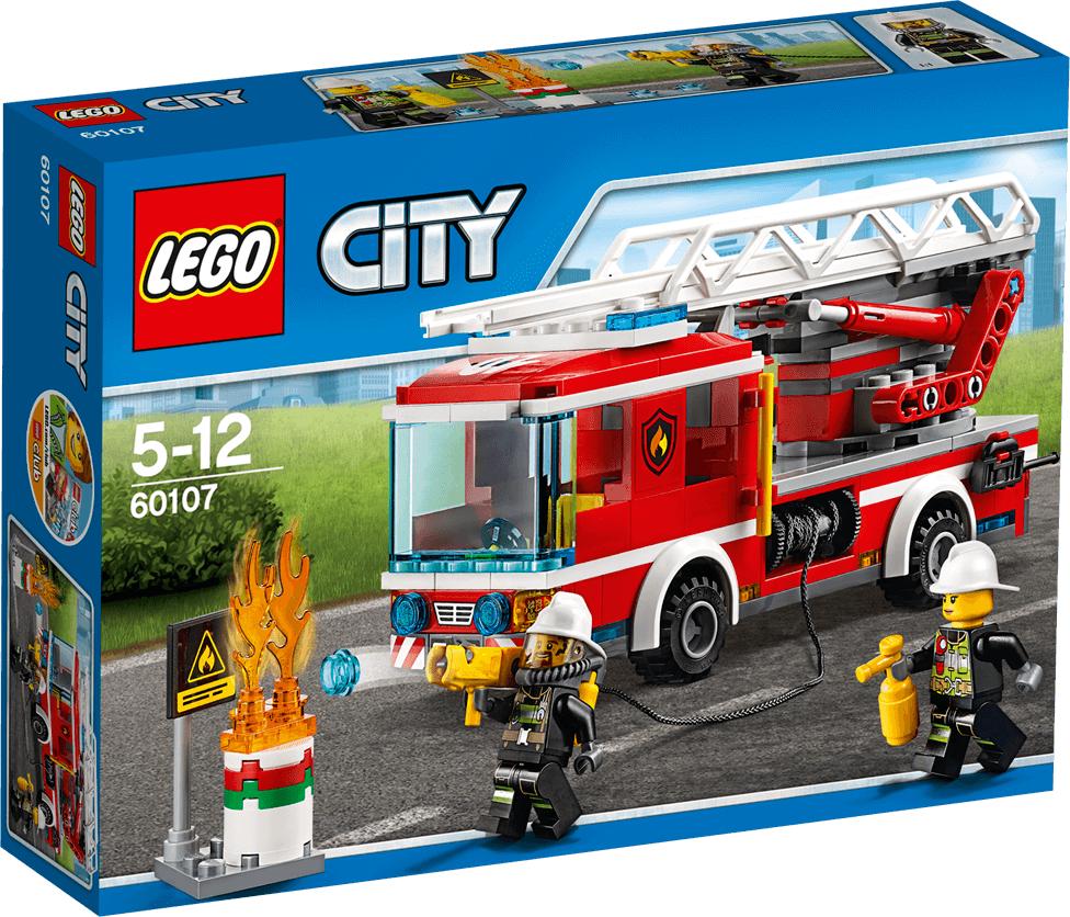 LEGO® City 60107 Feuerwehrfahrzeug with fahrbarer Leiter LEGO konstruktors