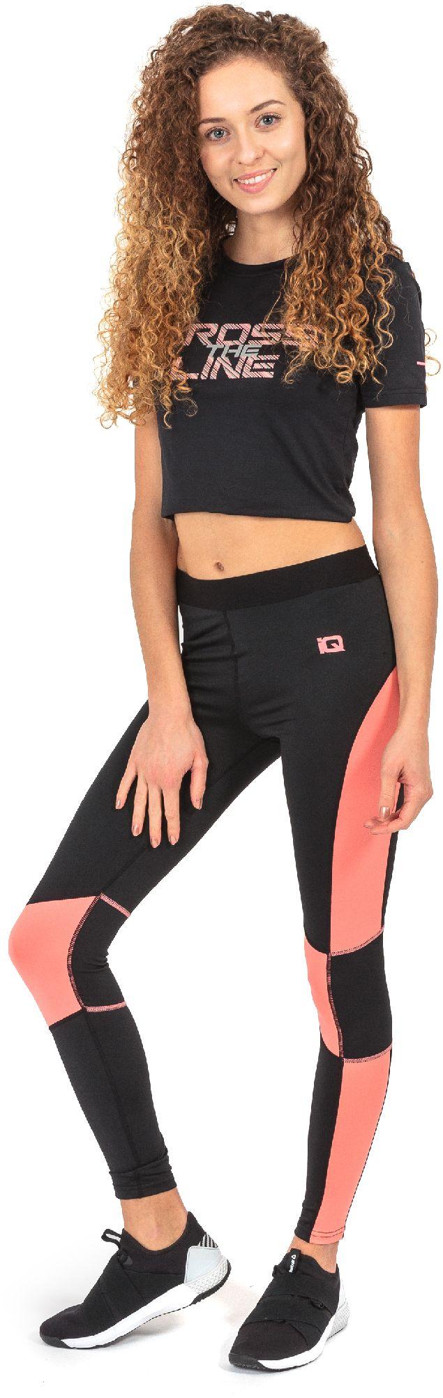 IQ Damskie legginsy Eirene Wmns Black/shell Pink r. L 5901979111238