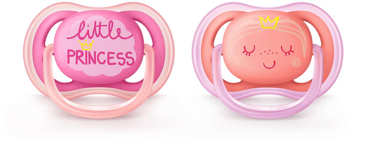 Philips Avent Ultra Air DECO silikona māneklītis, 6-18 mēn.,meitenēm,(2 gab. SCF343/22 māneklītis, knupis