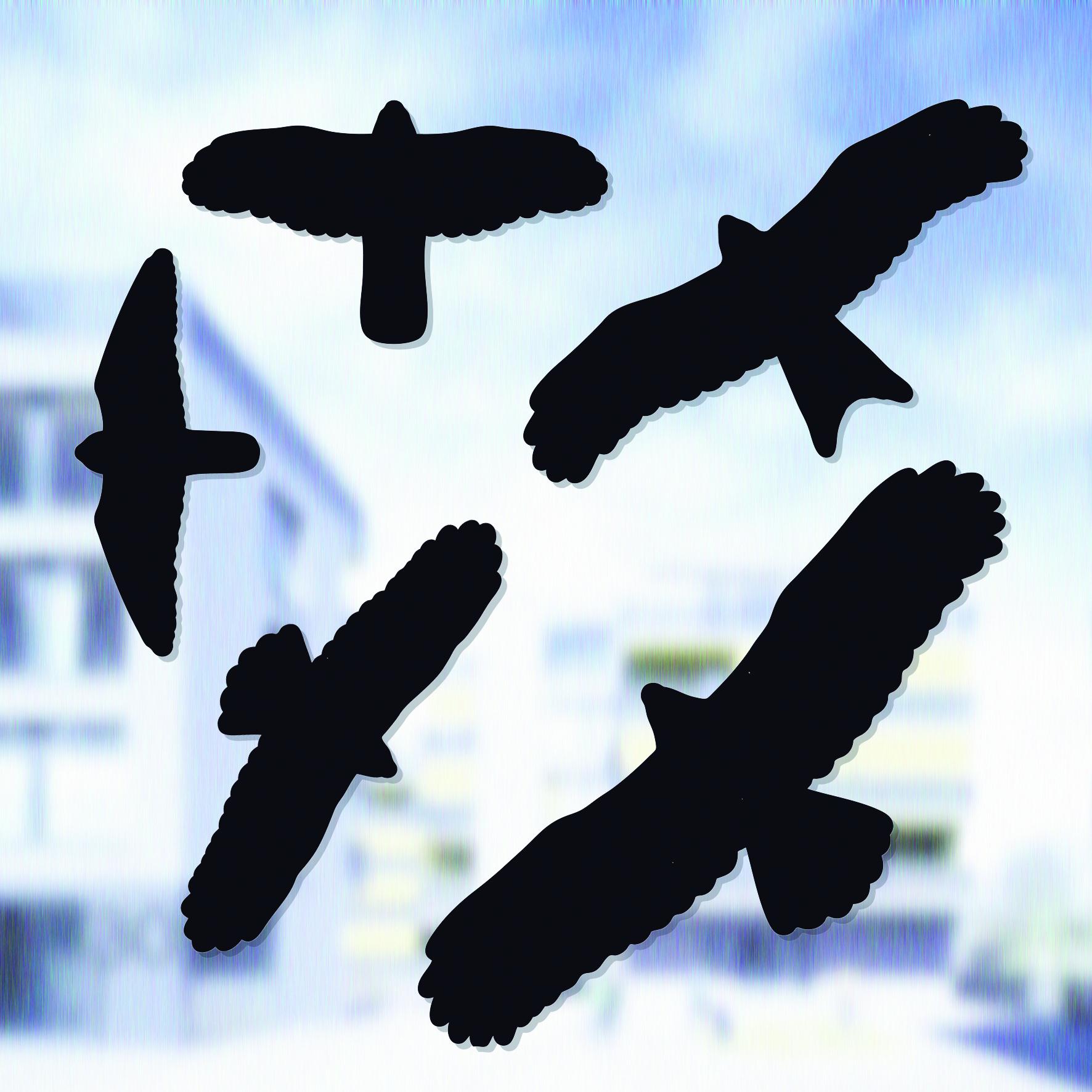Swissinno Bird window sticker (uzlīmes putnu sadursmes novēršanai 5gb) Slazds