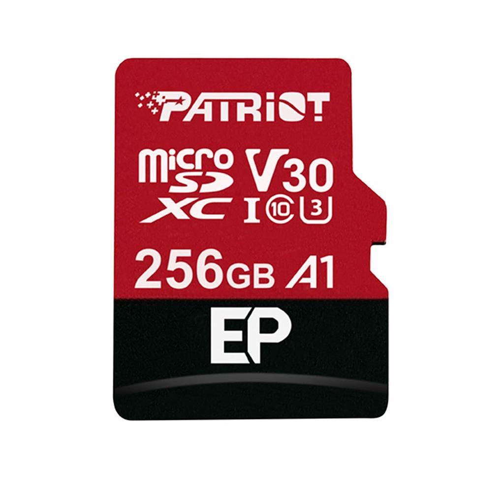 Patriot EP Series 256GB MICRO SDXC V30, up to 100MB/s atmiņas karte