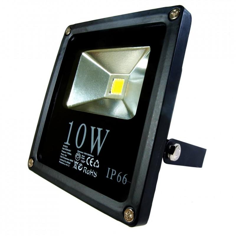 ART External lamp LED 10W, SLIM, IP66,AC80-265V,black, 3000K-warm white apgaismes ķermenis