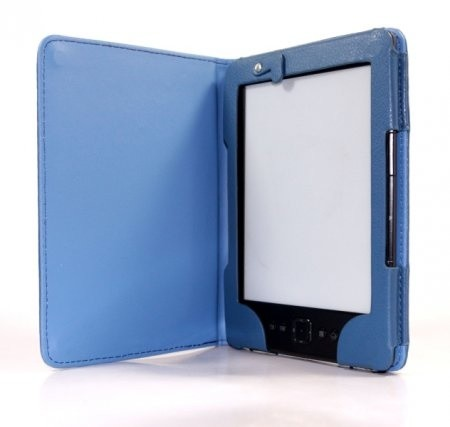 C-TECH PROTECT Case for Amazon Kindle 6 TOUCH with compact light, blue Elektroniskais grāmatu lasītājs