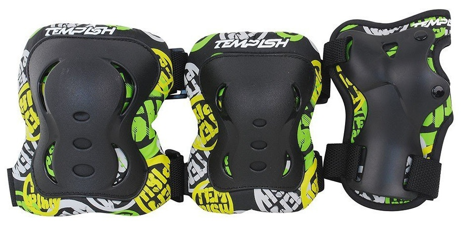 FID Kids 3-set (knees, elbows, wrists) black XS Skrituļslidas