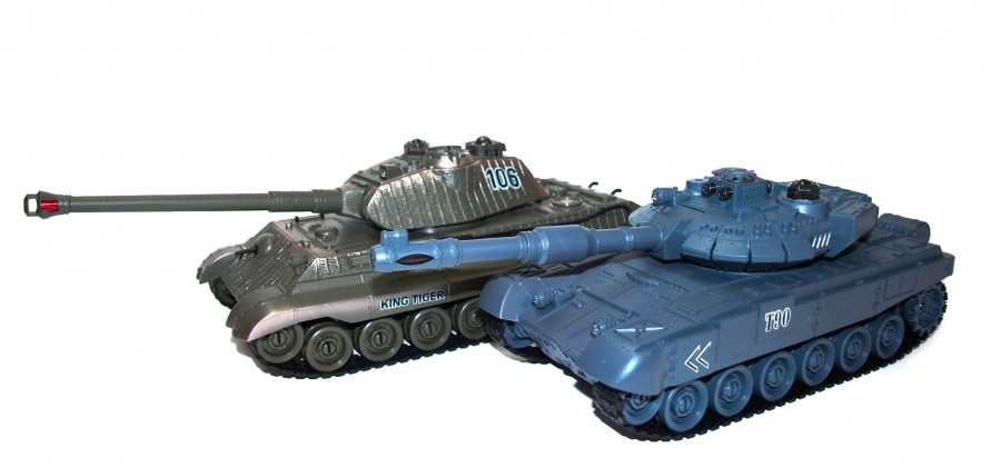 The set of tanks fighting each other - Russian T90 and German King Tiger 27MHz/35Mhz 1:28 RTR UF/99820