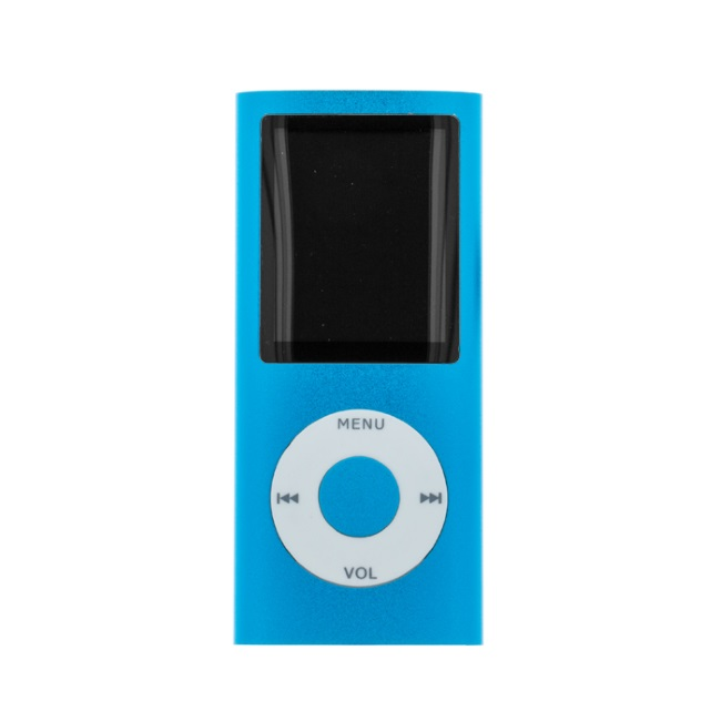 Setty MP4 Atskaņotājs ar LCD ekrānu un microSD kartes slotu + Austiņas Zils MP3 atskaņotājs