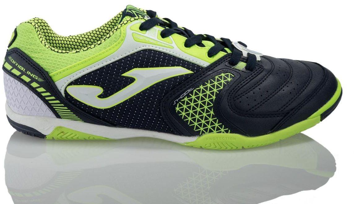 Joma sport Buty pilkarskie Dribling 720 Marino-Fluor Indoor czarno-zielone r. 45 13482 Sporta apavi