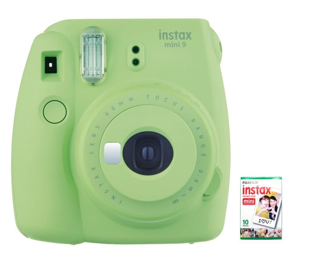 CAMERA INSTANT W/10SH GLOSSY/INSTAX MINI 9 L.GREEN FUJIFILM MINI9LIMEGREEN10SH Digitālā kamera