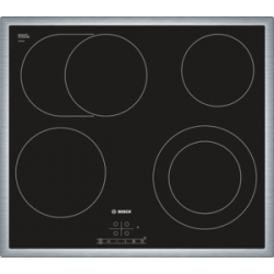 Bosch PKN645B17 Electric, Number of burners/cooking zones 4, Black, Display, Timer plīts virsma