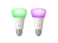 1x2 Philips Hue White + Color Ambiance LED DIM 10W (60W) E27
