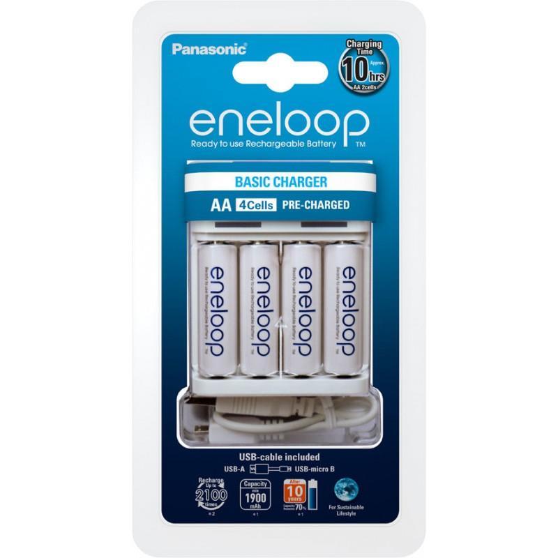 Panasonic Loader BQ-CC61 USB-in + Eneloop R6/AA 1900mAh, 4 Pcs.