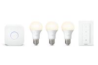 Philips Hue LED Lamp  E27 9,5W Starter Set + Bridge + switch