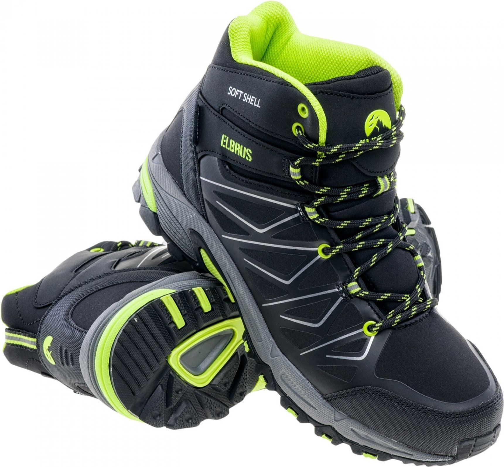Elbrus Buty meskie Gabby Mid WP Black/Lime r. 42 1632637 Tūrisma apavi