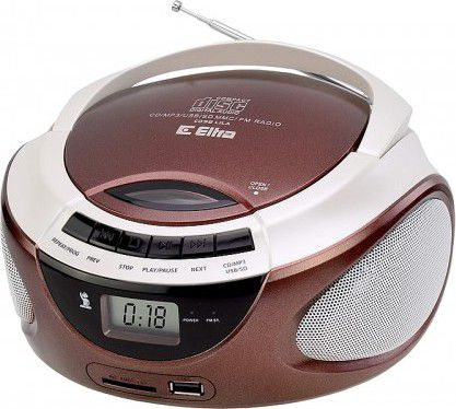 CD Player with radio LILA CD-98/USB brown mūzikas centrs