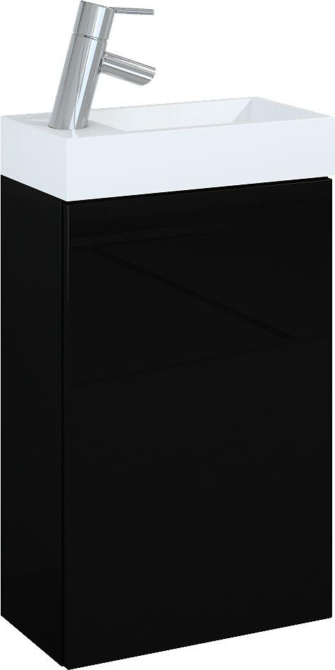 Zestaw szafka z umywalka Elita Young Basic 40cm czarny (163070) 163070