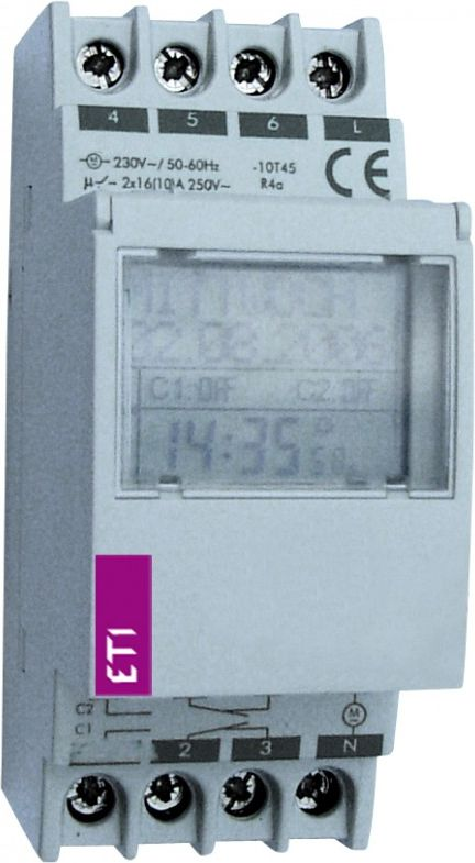 Eti-Polam Digital time programmer 16A daily / weekly 1-channel ETICLOCK-1