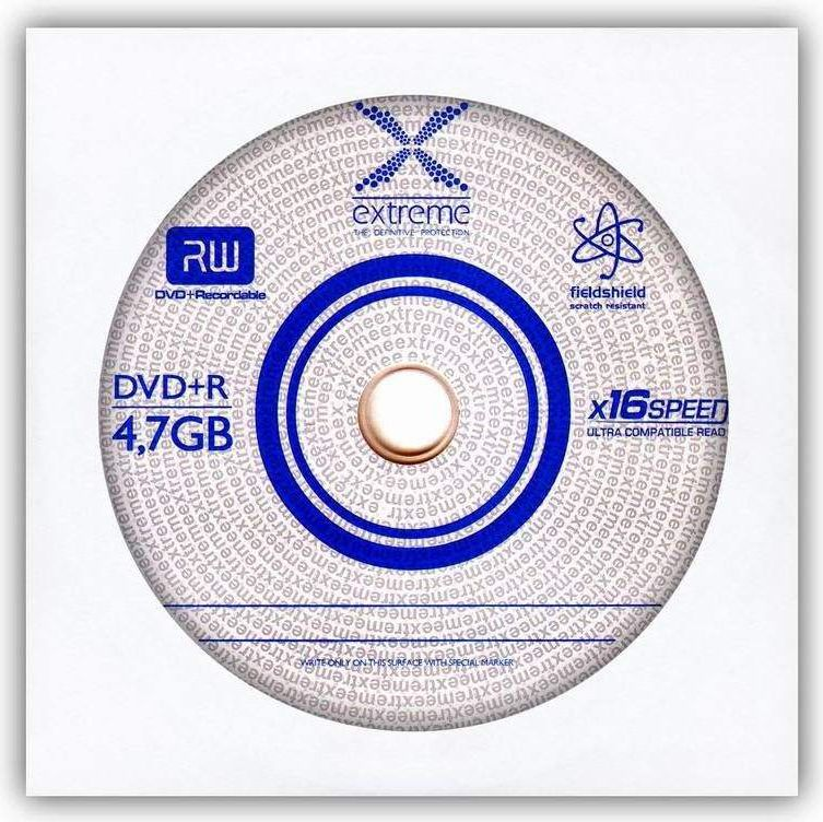 EXTREME 1175 - DVD+R [ envelope 1 | 4.7GB | 16x ] - carton 500pcs matricas