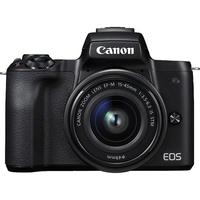 Canon EOS M50 Kit black + EF-M 15-45 Digitālā kamera
