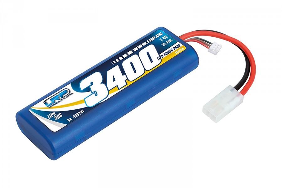 3400mAh 7.4V 30C 2S1P LRP Stickpack Hardcase LRP/430207