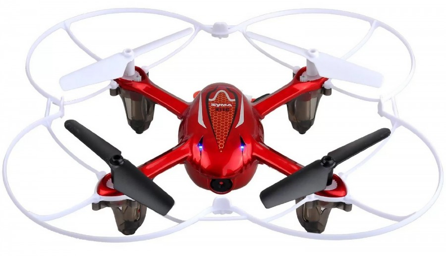 Syma X11C Quadcopter 4CH 2.4GHz (HD 2.0MP video camera, 6 Axis GYRO, memory card) - Red Droni un rezerves daļas