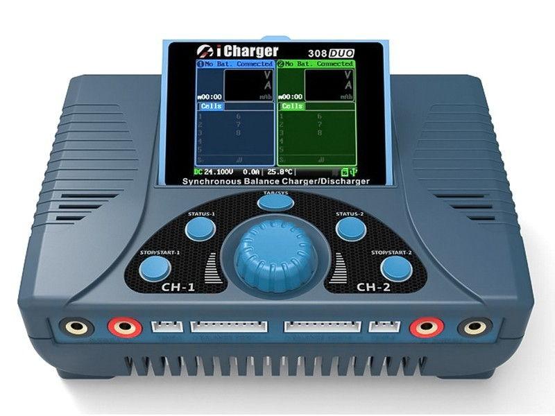 2-CH charger 2-kanałowa iCharger 308 DUO 1300W 2x30A LiPo 8S JUN/308DUO
