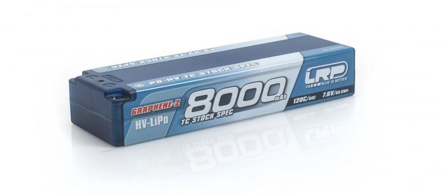 8000mAh 7.6V (2S) 120C/60C hardcase LRP P5-HV TC Ultra LCG GRAPHENE LRP/430260