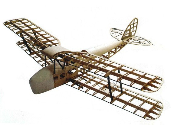 Airplane Tiger Moth Balsa KIT (wingspan 1400mm) DW/EWTM-02A