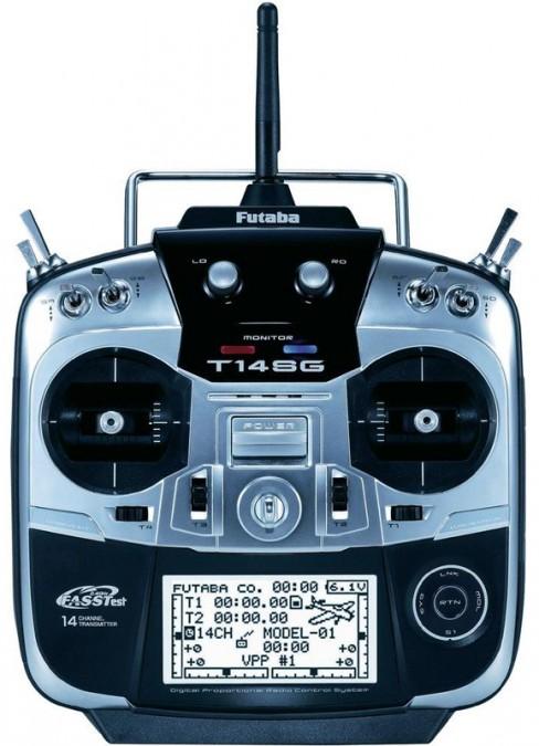 Aparatura T14SG 14CH 2.4GHz + odbiornik R7008SB FB/T14SG