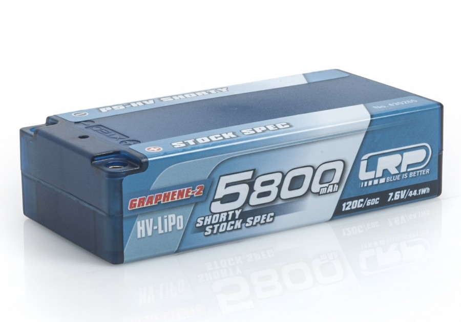 LiPo 5800mAh 7.6V 120C/60C hardCase P5-HV Shorty Stock Spec Graphene 2 LRP/430265