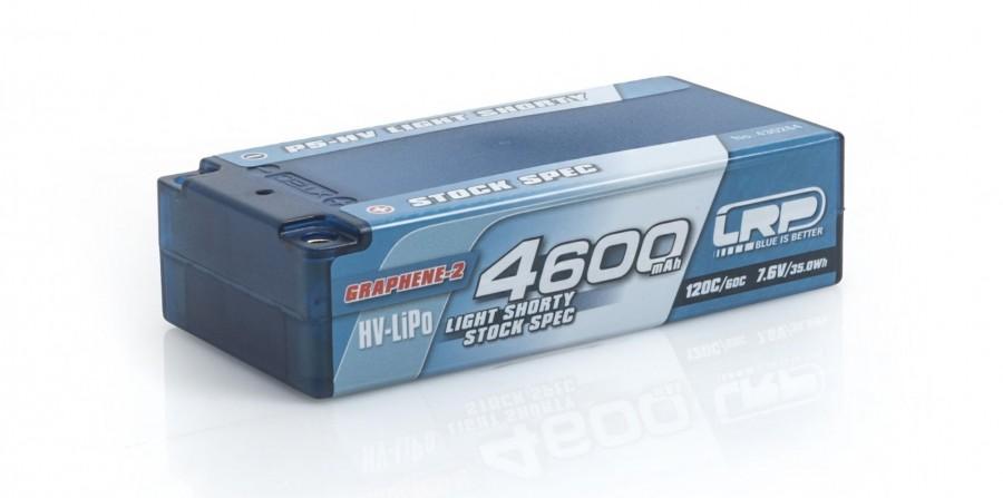 4600mAh 7.6V (2S) 120C/60C hardcase LRP P5-HV LW Shorty Stock Spec GRAPHENE LRP/430264