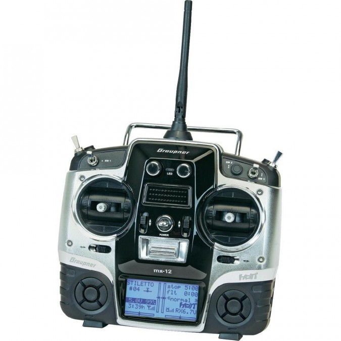 MX-12 HoTT 2.4GHz 6CH (1 receiver, USB interface, memory card, battery, charger) GRA/33112