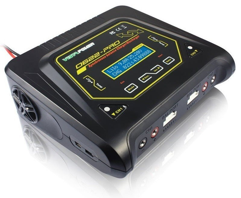 Ładowarka 2-kanałowa Vista Power D622-Pro 2x200W VP/D622-PRO