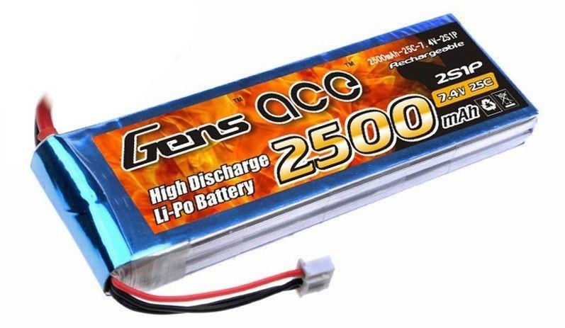 Gens Ace & TATTU 2500mAh 7.4V 25C Gens Ace (B-25C-2500-2S1P)