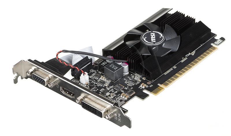 MSI GT 710 1GD3H LP HDMI DVI-D D-Sub video karte
