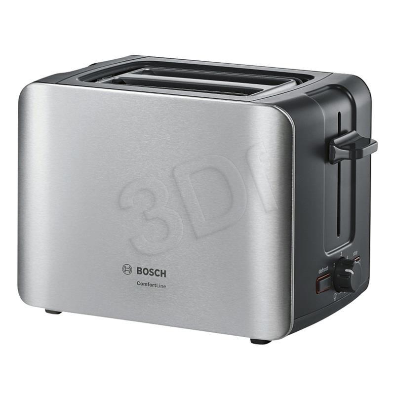 Toster Bosch TAT6A913 (1090W/czarno-srebrny) Tosteris
