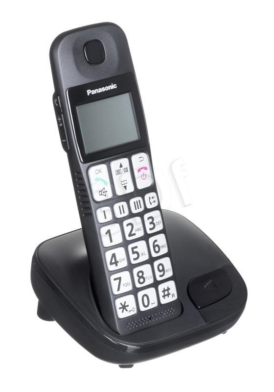 Panasonic Telefon Wireless KX-TGE 110 PDB Black telefons