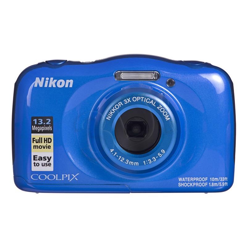 Nikon Coolpix W100 Blue Backpack kit Nikon COOLPIX W100 Blue, TFT, Lithium-Ion (Li-Ion), ISO sensitivity (max) 1600, Compact camera, 13.2 MP Digitālā kamera