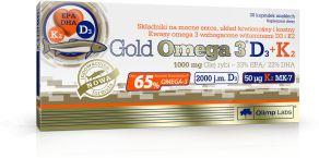 Gold Omega 3 D3+K2 30 caps.