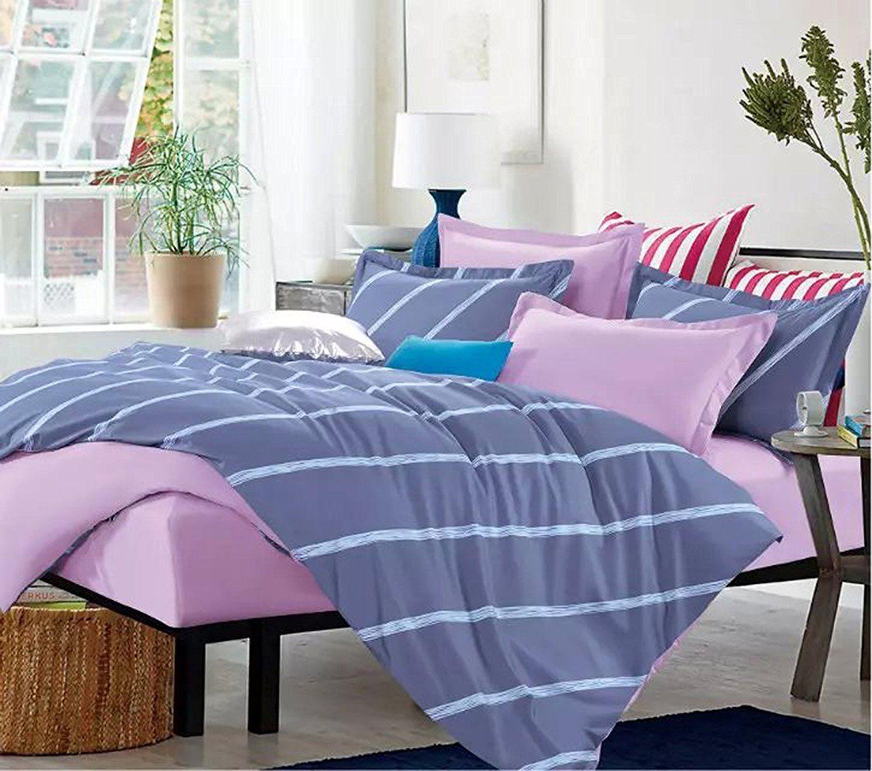 Posciel Sublime 135x200 cm + poduszka 80x80 cm rozowo-fioletowa 16669 Gultas veļa