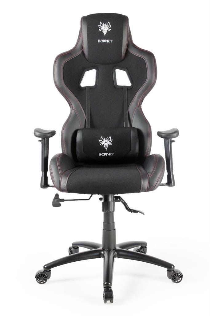 Gembird Gaming chair 'HORNET', black with red thread datorkrēsls, spēļukrēsls