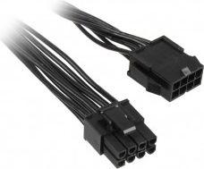 NoName Adapter 8-Pin-PCIe 6+2-Pin-PCIe Black 25cm - ZUAD-761 kabelis datoram