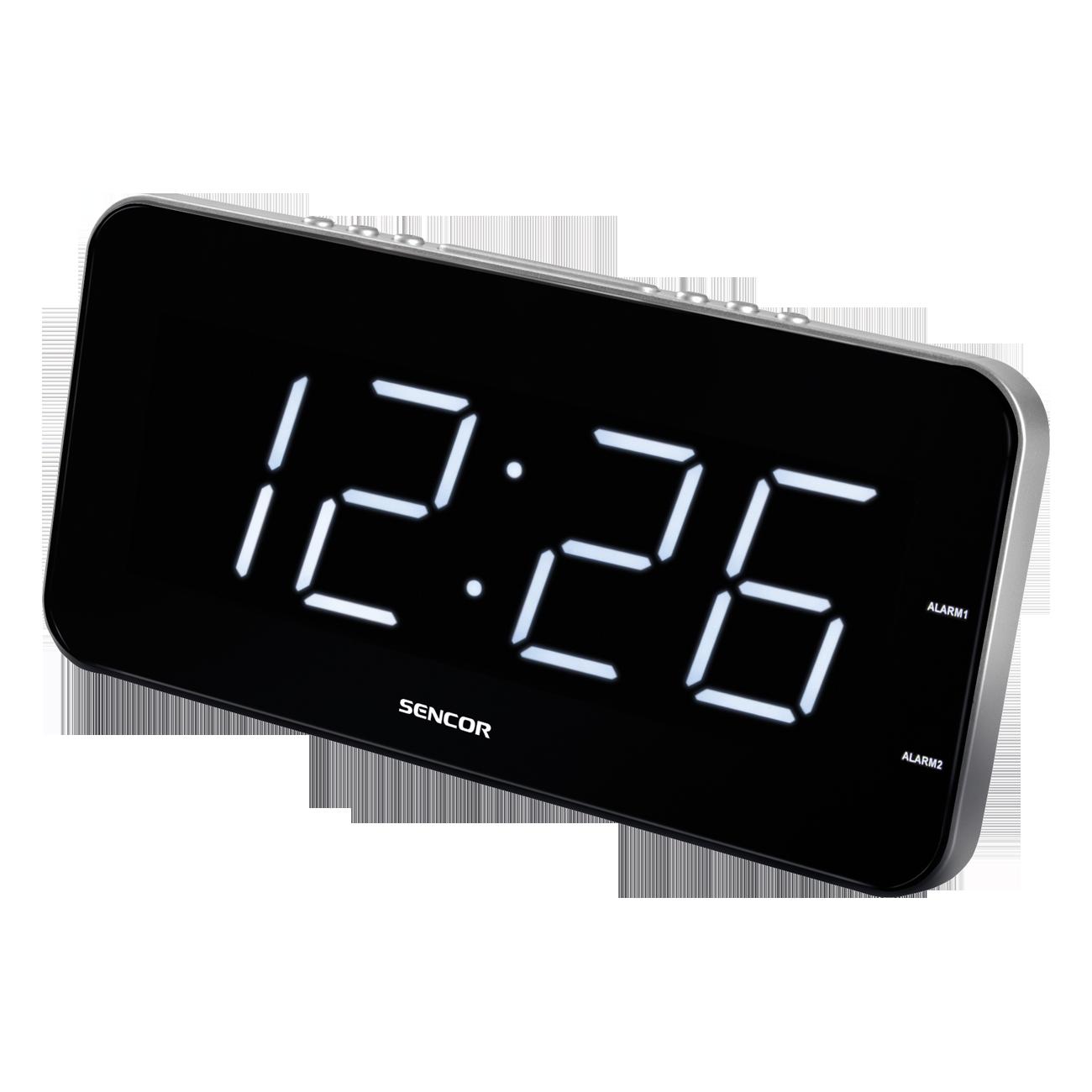 Sencor SDC 130 WH Alarm clock radio, radiopulksteņi