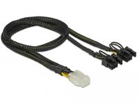 DELOCK Stromkabel 6Pin PCIe -> 2x 8Pin PCIe Bu/St 30cm kabelis, vads